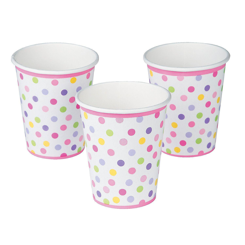 Baby Girl Stork Cups - OrientalTrading.com