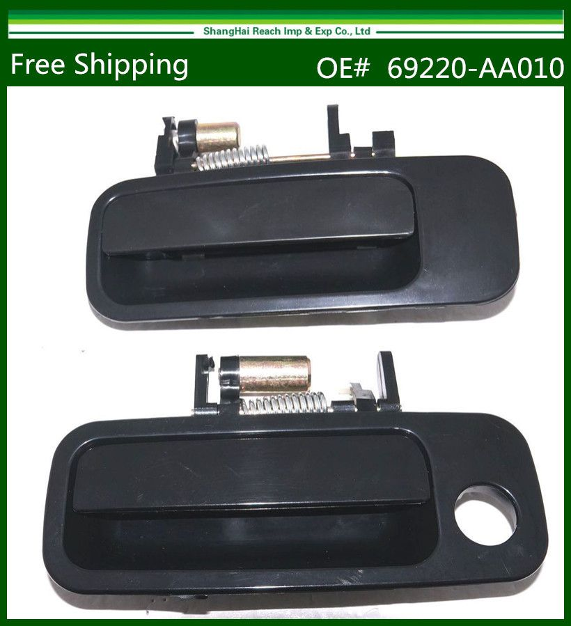 Black Exterior Pair Door Handle For 1997 2001 Toyota Camry 69220aa010 69210aa010 69220yc030 69210yc030 69220 Yc030 69210 Yc030 Door Handles Black Exterior Toyota Camry