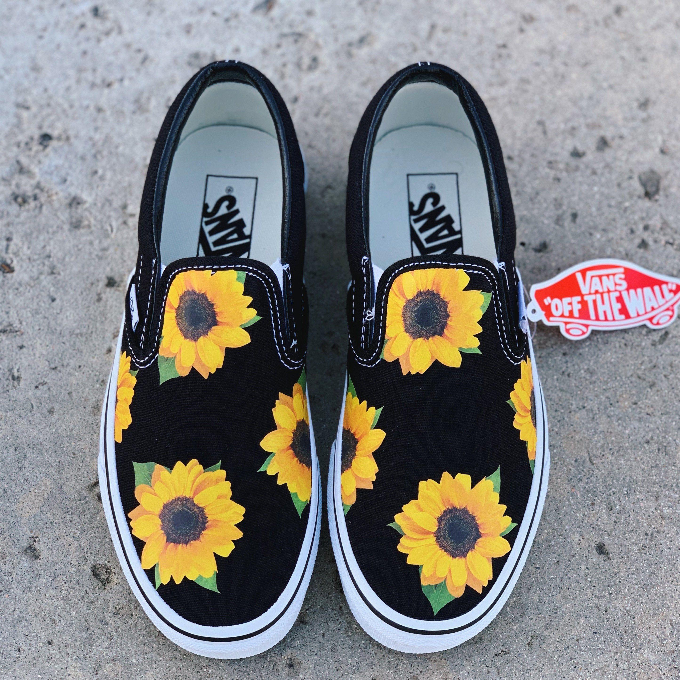 Sunflower Shoes Summer Shoes Custom Vans Shoes Vans Custom