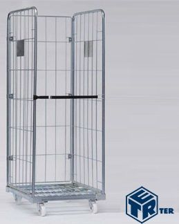 Roll cage container 3 sides Logistic and warehouse equipment