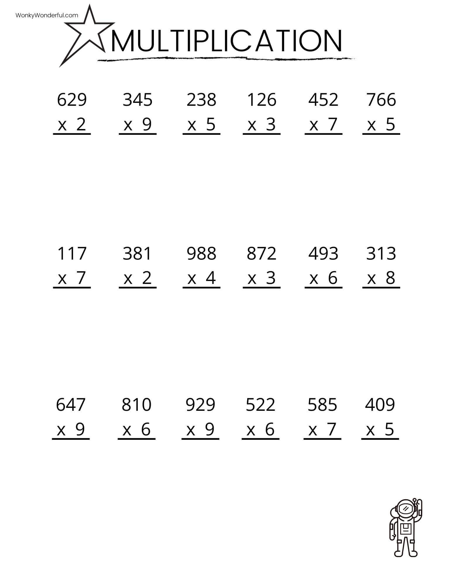 These Free Printable Multiplication Worksheets Are A Gre