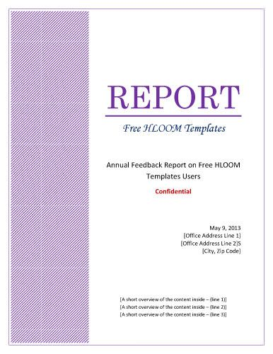 Purple-pattern-formal-cover Portadas Pinterest - formal report template word
