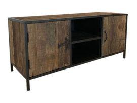 Stoer industrieel landelijk tv meubel televisie kast dressoir sidetable 130 x 56 x 48 cm | Meubels | 't Jagershuis #halinrichting