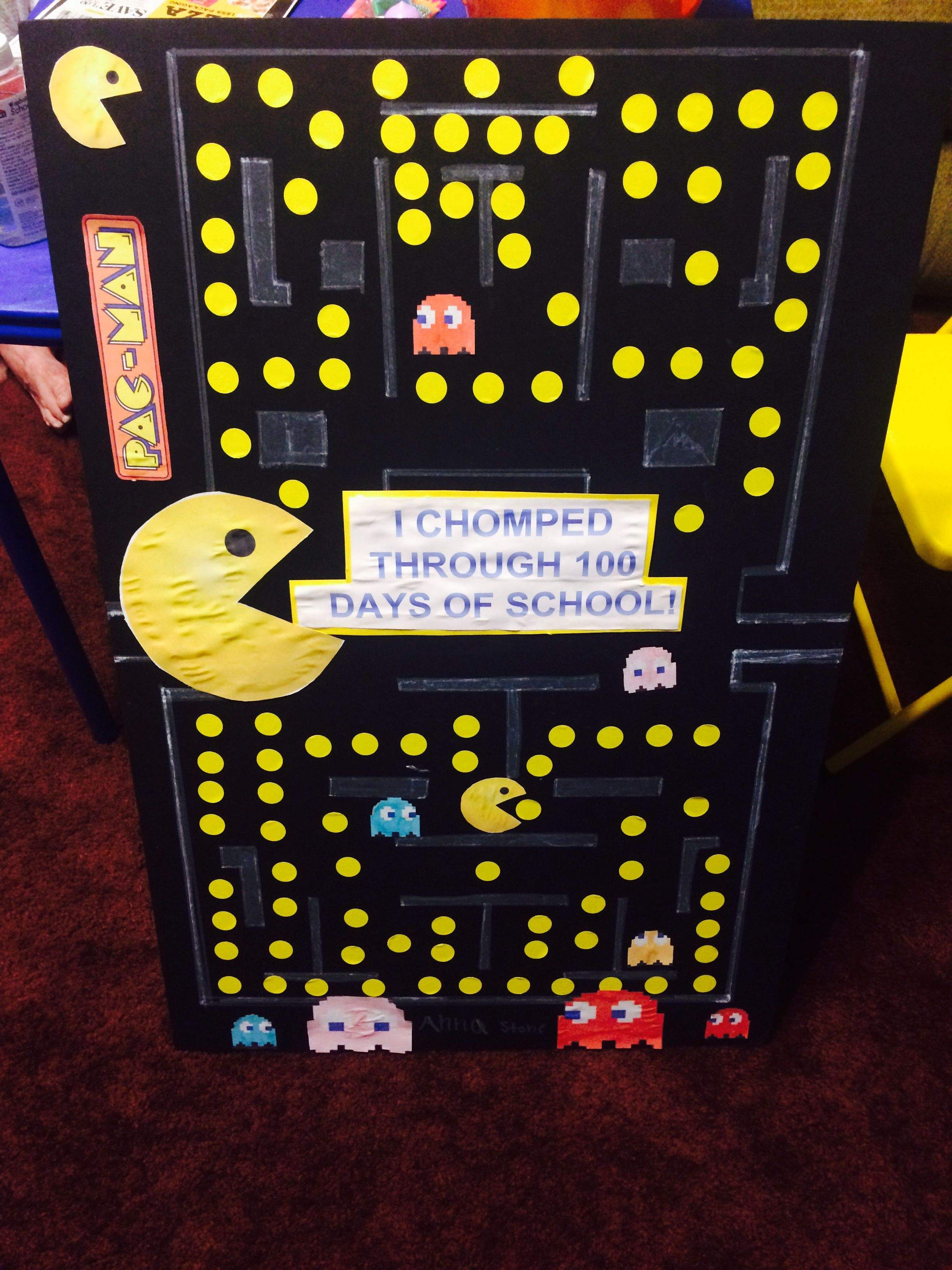 100 Days Of School Pacman Project