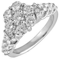 2.00 ct. t.w. Round Cut Diamond Engagement Ring in 14K White Gold (I, I1) - Size 8