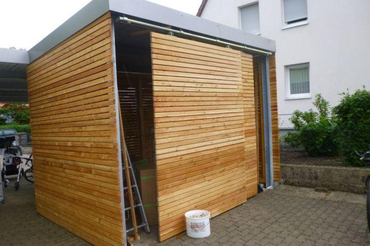CarportHütte mit Rhombusleisten Carport selber bauen