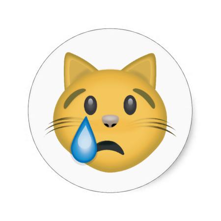 Pin On Crying Cat Face Emoji