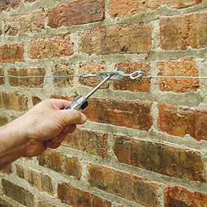 How To Make A Wire Espalier For A Garden Wall | How To Make A Wire Espalier For A Garden Wall Backyard Fun