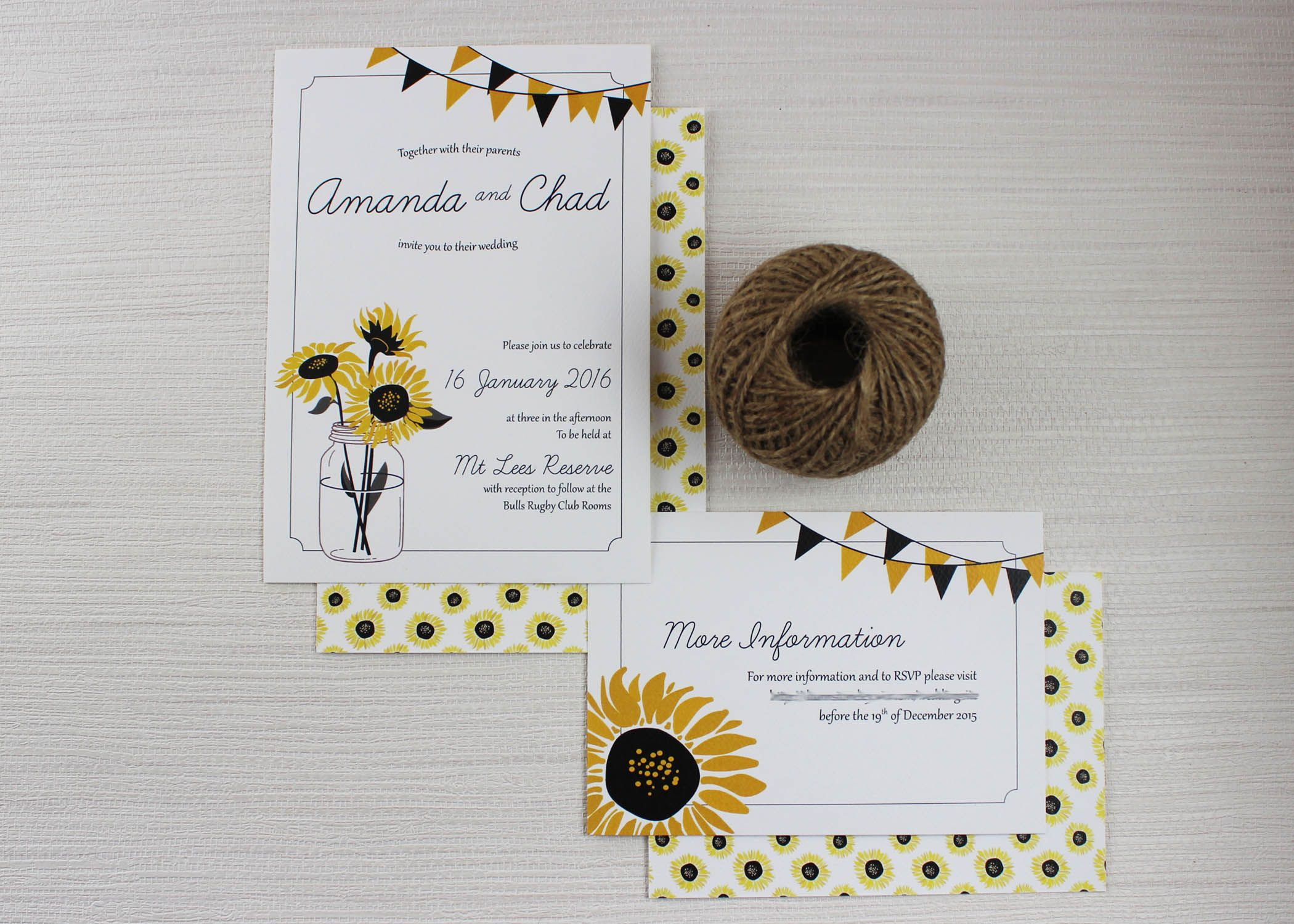 Sunnyflowers Sunflower Wedding Invitations Sunflower Weddings