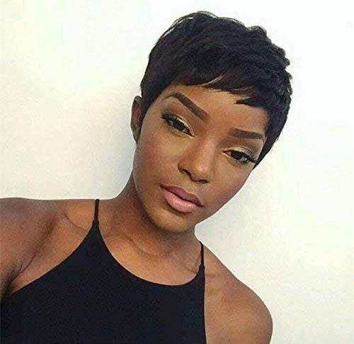 Women's Short Virgin Human Hair Wig FLASH