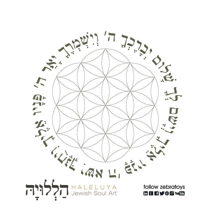 Birkat Kohanim-Priestly Blessing Prayer-Flower and Seed of Life ...