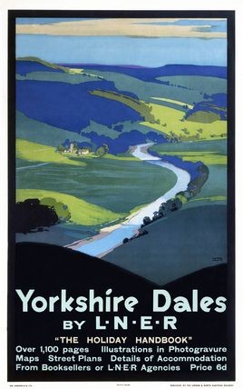 Yorkshire dales travel poster stuff pinterest psteres de yorkshire dales travel poster fandeluxe Gallery