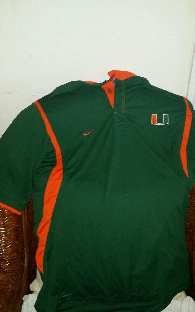 Nike University Of Miami Um Hurricanes Green Polo Shirt Size M Men In Sports Mem Cards Fan Shop Fan Apparel Souv Green Polo Shirts Fan Apparel Shirt Size