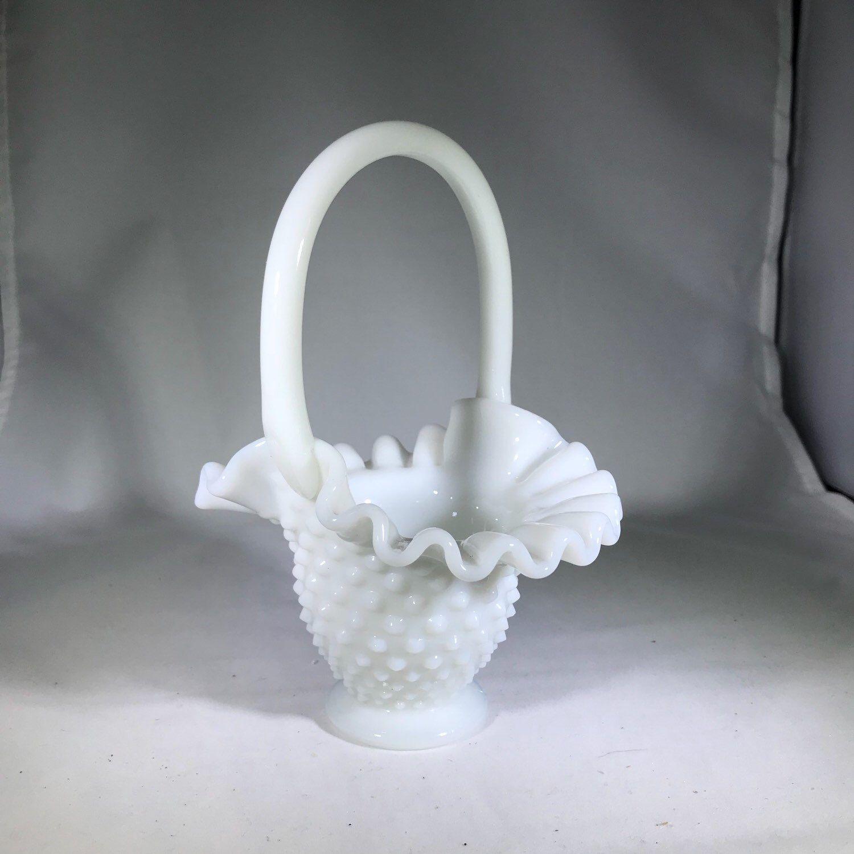 Vintage Hobnail Basket Vintage Hobnail Vintage Glass Etsy In 2020 Milk Glass Bowl Hobnail Milk Glass Milk Glass