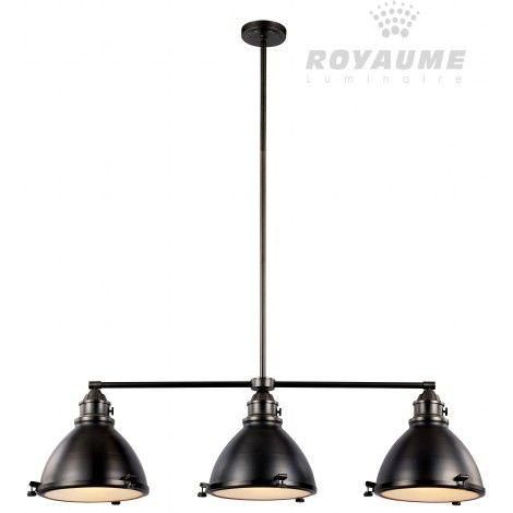 luminaire suspendu rectangle en m tal bronze anthracite. Black Bedroom Furniture Sets. Home Design Ideas