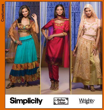 Diy Sewing Pattern-Simplicity 4249-Belly Dance Pattern-Sari Pattern ...