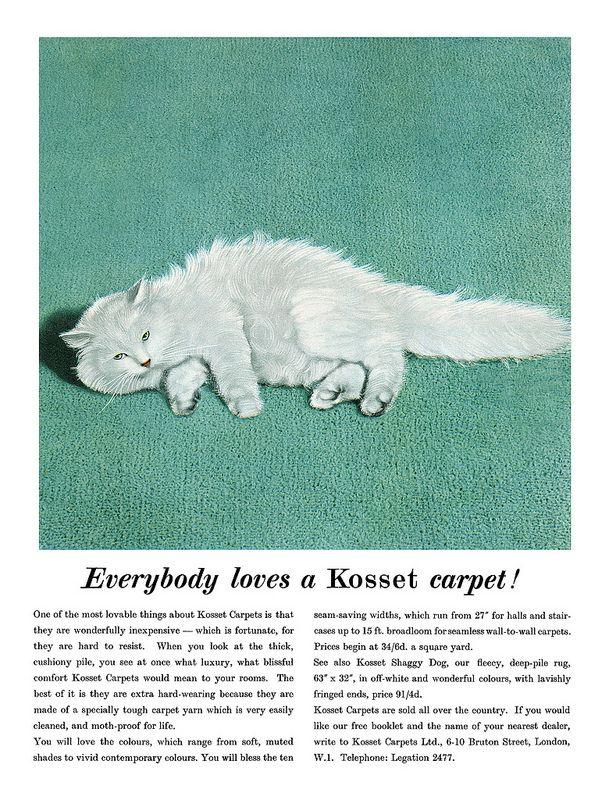1957 Kosset carpets ad