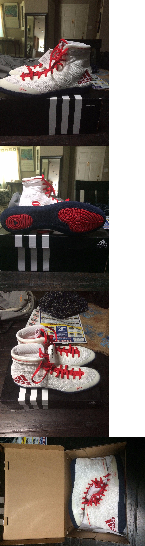 847d5a92698 Footwear 79799  Adidas Adizero Varner Men S Wrestling Shoes White-Red-Navy  Sz