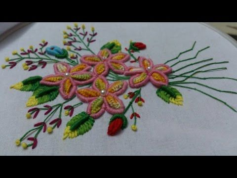 Hand Embroidery Designs Embroidery Design For Dresses Stitch And Flower 102 Youtube Embroidery Designs Hand Embroidery Brazilian Embroidery