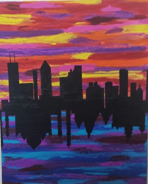 Chicago to India painting
