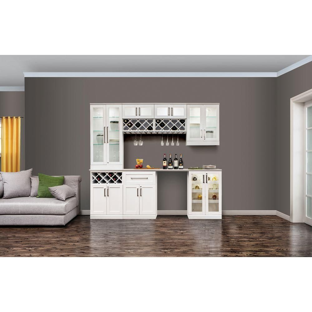 Shop For NewAge Products White Wood Shaker Style Home Bar. Get Free  Delivery At Overstock.com   Your Online Home Improvement Store! Get 5% In  Rewaru2026