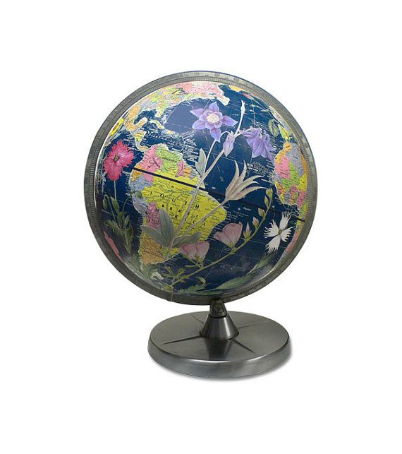 flower power globe by wendy gold available on etsy