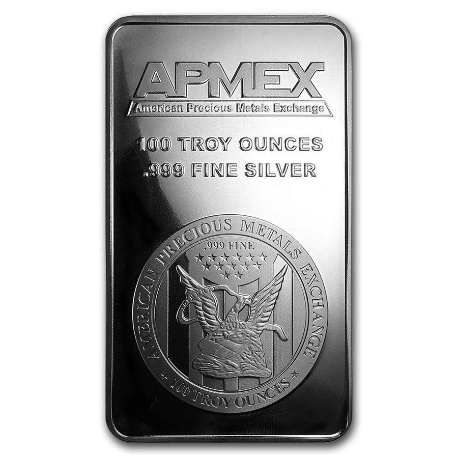 100 Oz Silver Bar Apmex Struck Silver Bars Buy Silver Bullion Gold Bars For Sale