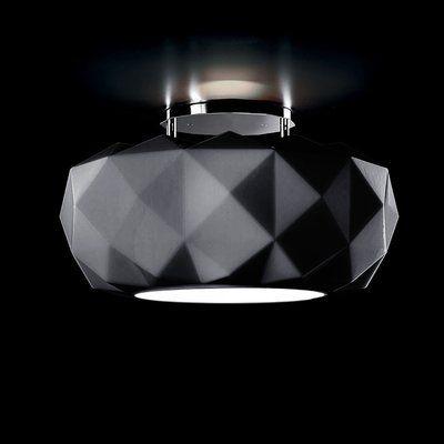 Leucos Deluxe 1 Light Semi Flush Mount Glass Diffuser Led Flush Mount Modern Sconces
