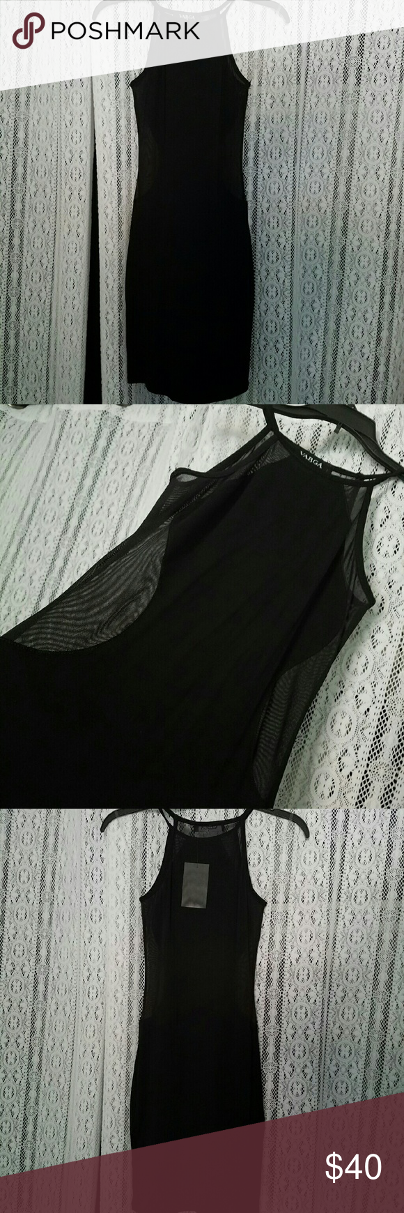 Nwt sexy black mesh dress nwt