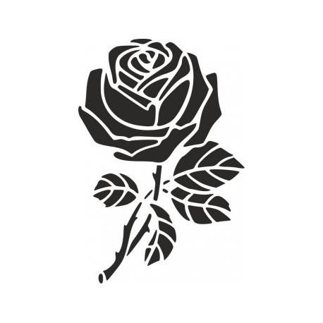 Rose Stencil Dxf File Rose Stencil Stencils Online Silhouette Stencil