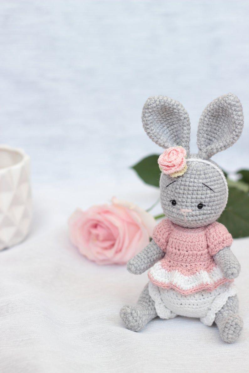 image 20   Crochet bunny, Baby bunny toy, Bunny soft toy