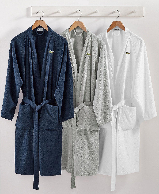 1f31f5da77 Lacoste Home Pique Bath Robe