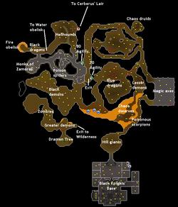 Taverley Dungeon   Runescape   Dungeon maps, Map