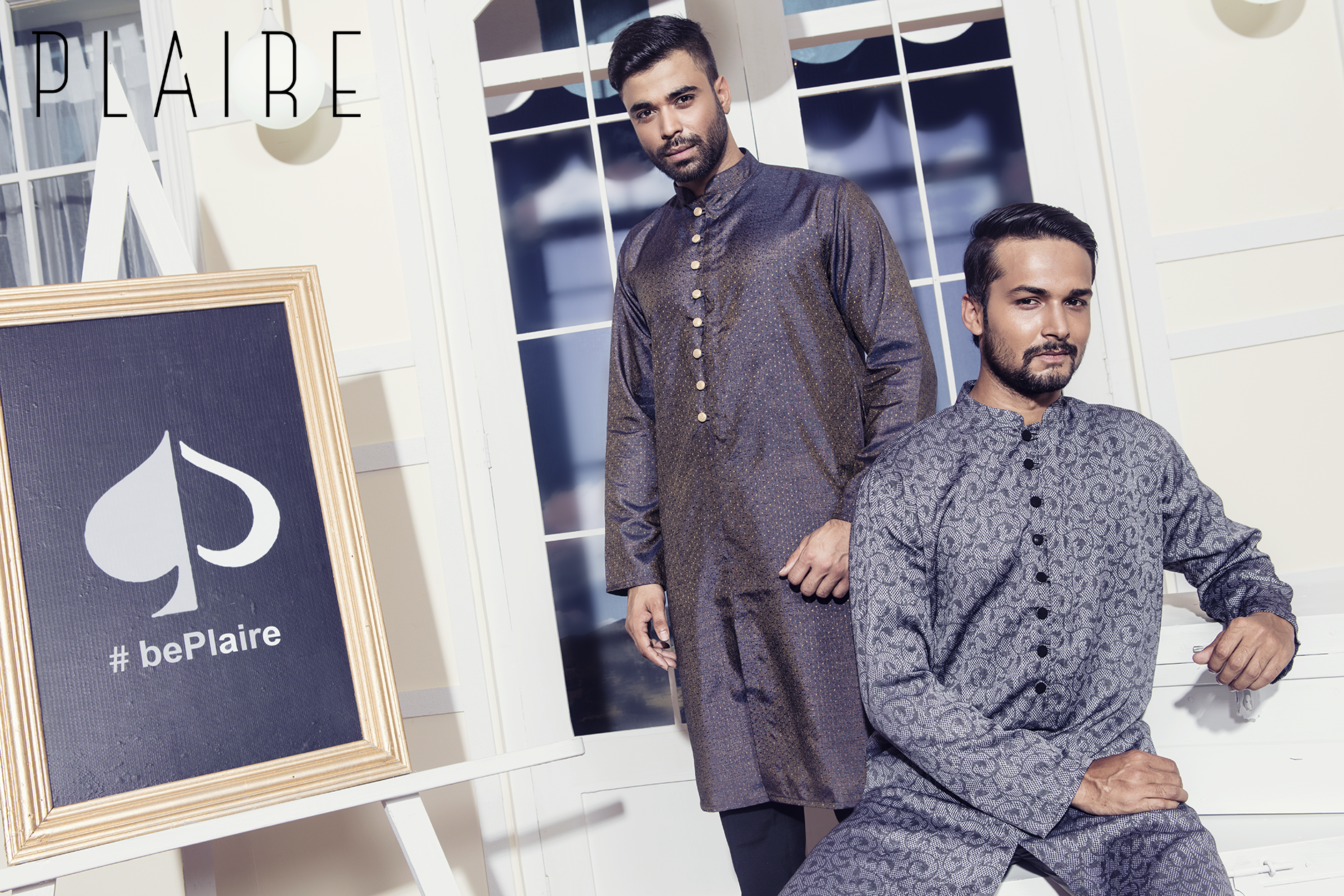 Bright Hues or Elegant Fusion of Pattern! PLAIRE has got over 120 style variation of Slim Fit and Classic Fit Kurtas in hanger this Eid!