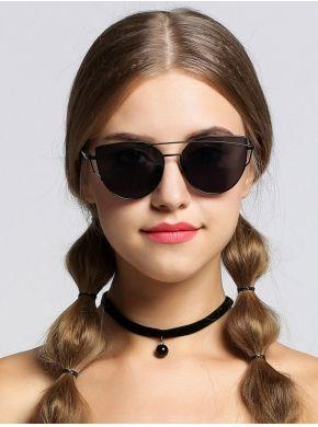 35063d3cf4d Fashion Women Sunglasses Metal Frame Mirror Big Lens Eyewear Shades Glasses
