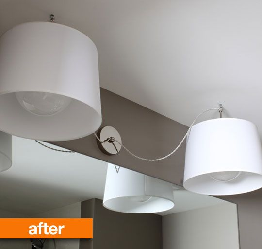 A Cheap Way To Redo My Bathroom Lights And Still Not Spend A Lot Of Money.  I Hate Those Shag Lights!