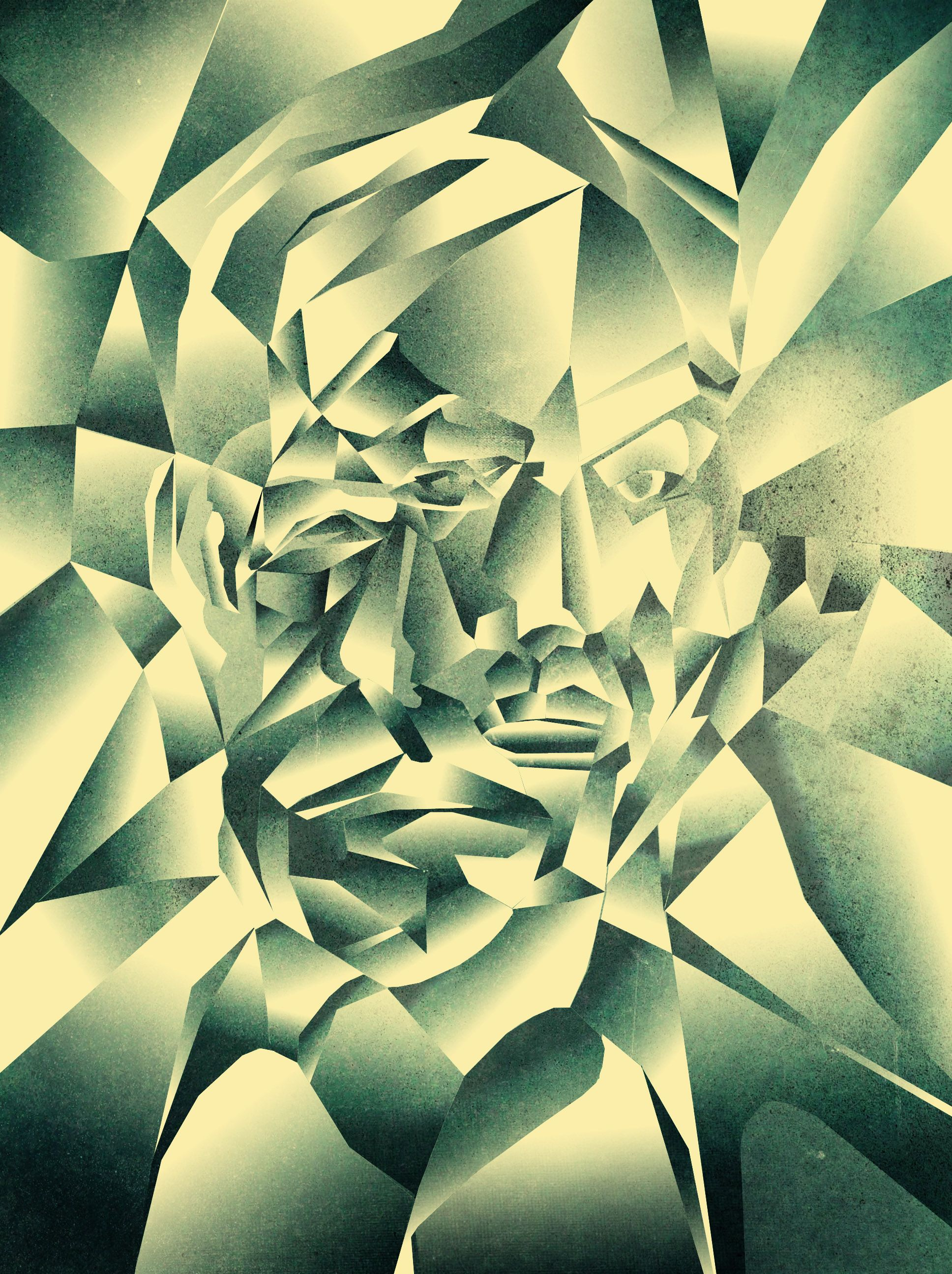 Cubist Portrait Example Created In Photoshop Using The