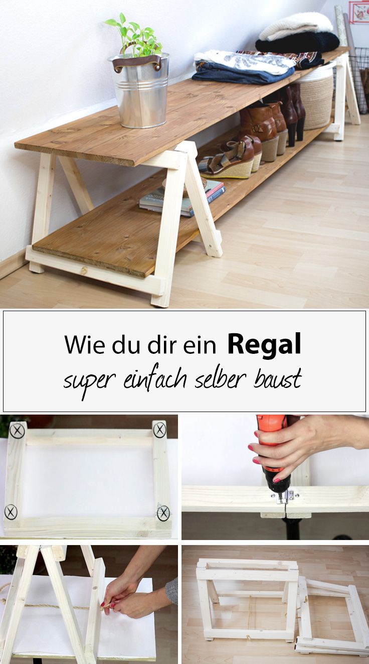 diy regal regal bauen mit mini klappb cken wendys wohnzimmer diy pinterest regal. Black Bedroom Furniture Sets. Home Design Ideas