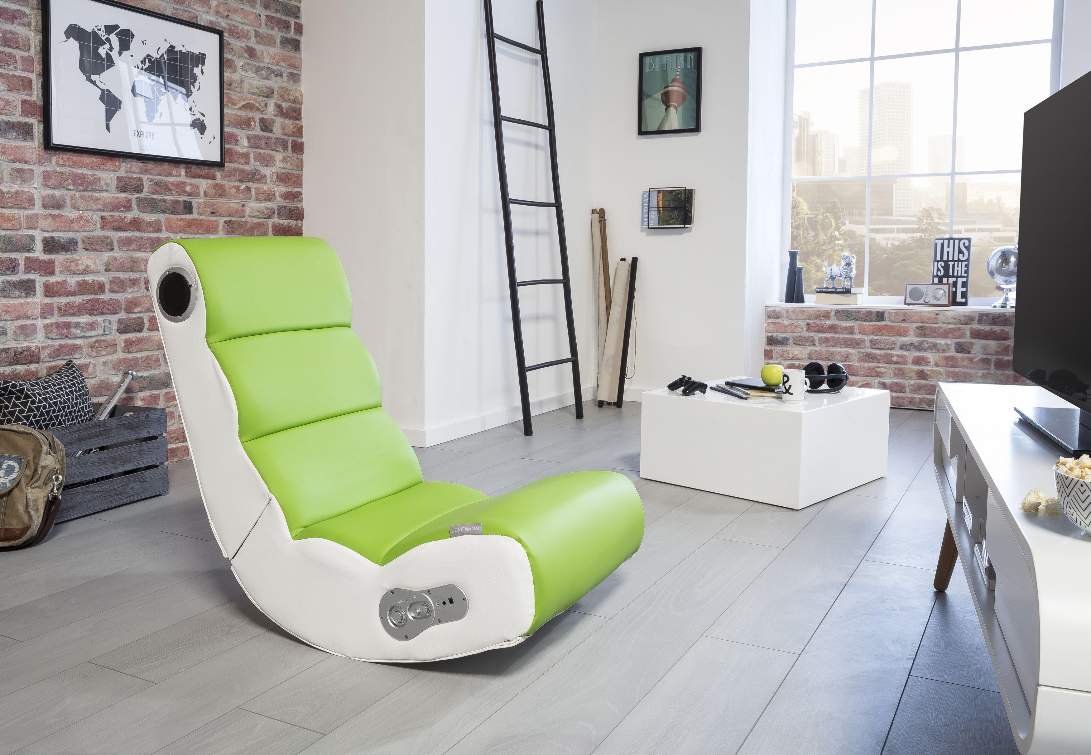wohnling wooble soundchair grün mit bluetooth wl8.018 aus