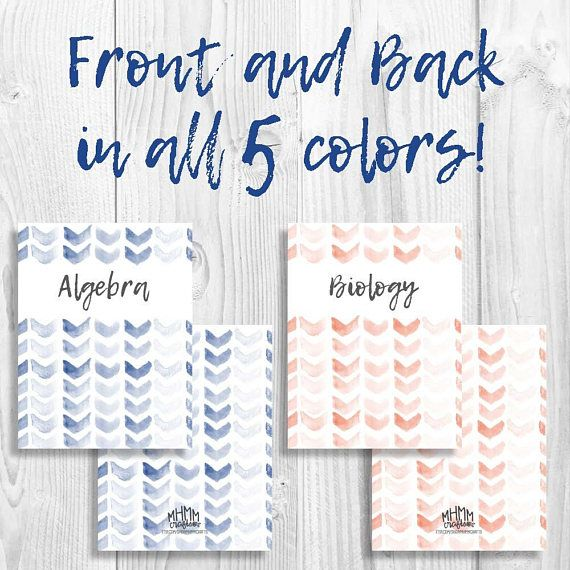Set Of 5 Printable Binder Covers/Inserts W/ Spines
