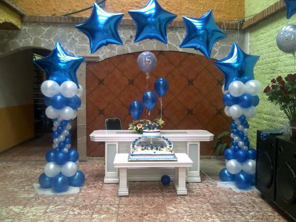 Decoracion con globos para 15 a os buscar con google for Decoracion de globos para hombres