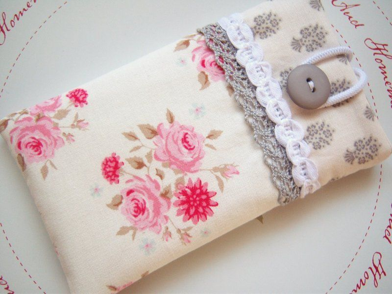 handytasche iphone h lle romantisch no 2 von frau rosarot auf n hen. Black Bedroom Furniture Sets. Home Design Ideas