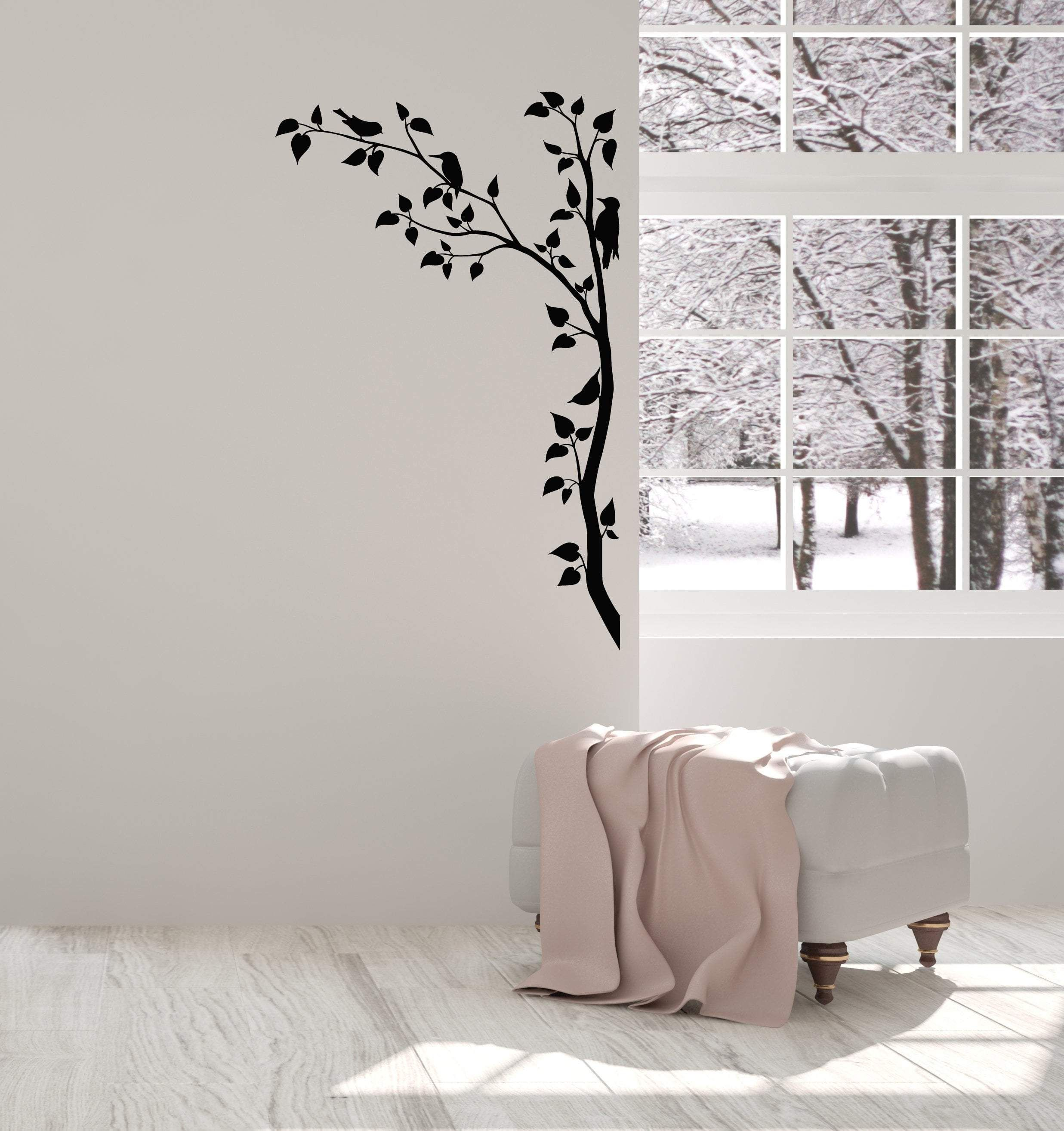 vinyl wall decal branches tree beards leaves nature room on wall stickers for hall id=37409