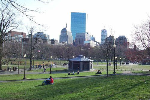 Boston Common where Dominic proposed