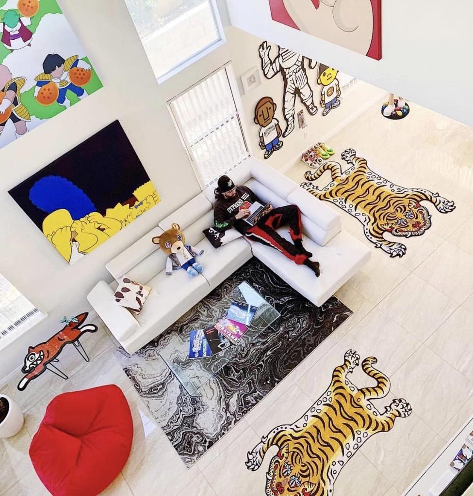 Nigo S Tibeten Tiger Rug Homeless Penthouse Hypebeast Room Tiger Rug Dream House Decor