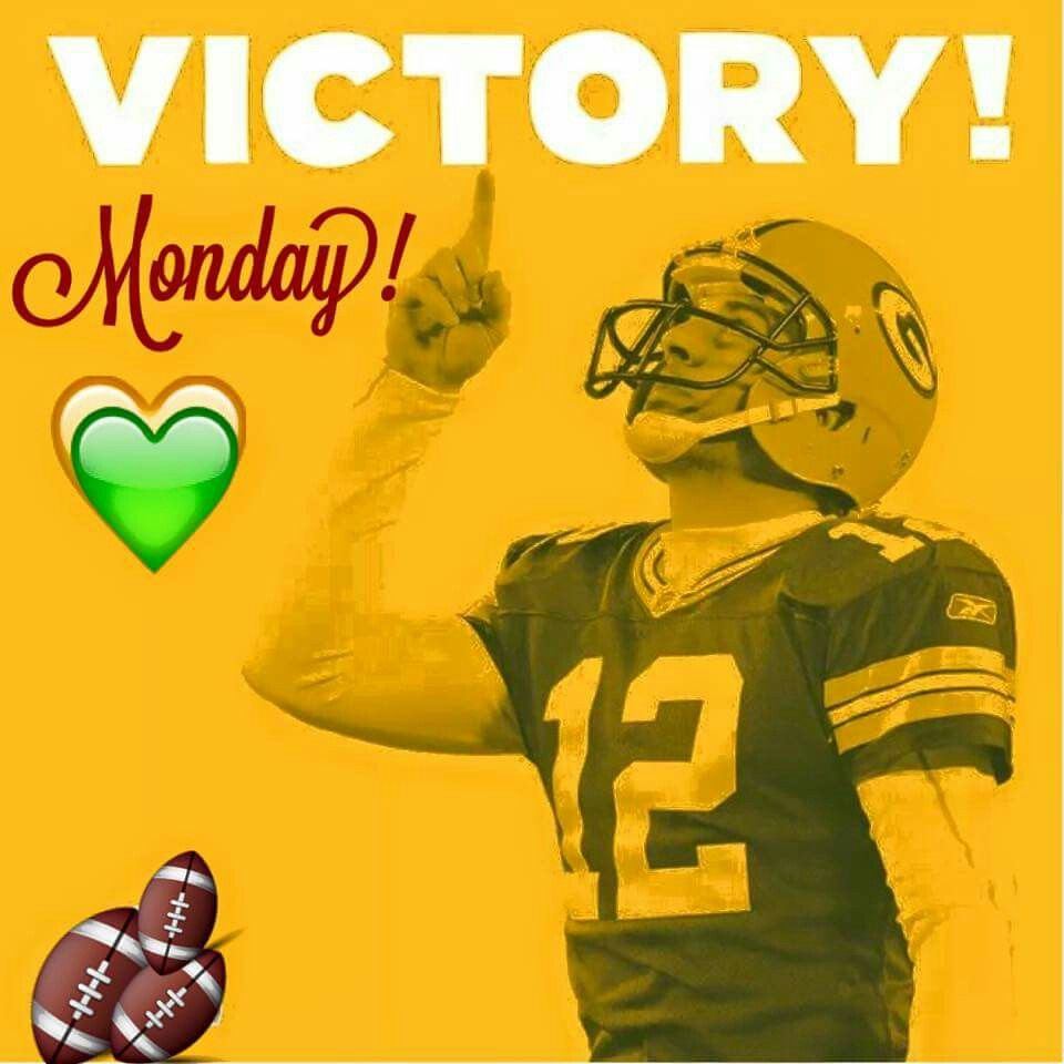 Victory Monday In 2020 Green Bay Packers Aaron Rodgers Green Bay Packers Victorious