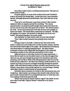 Roll of thunder hear my cry injustice essay