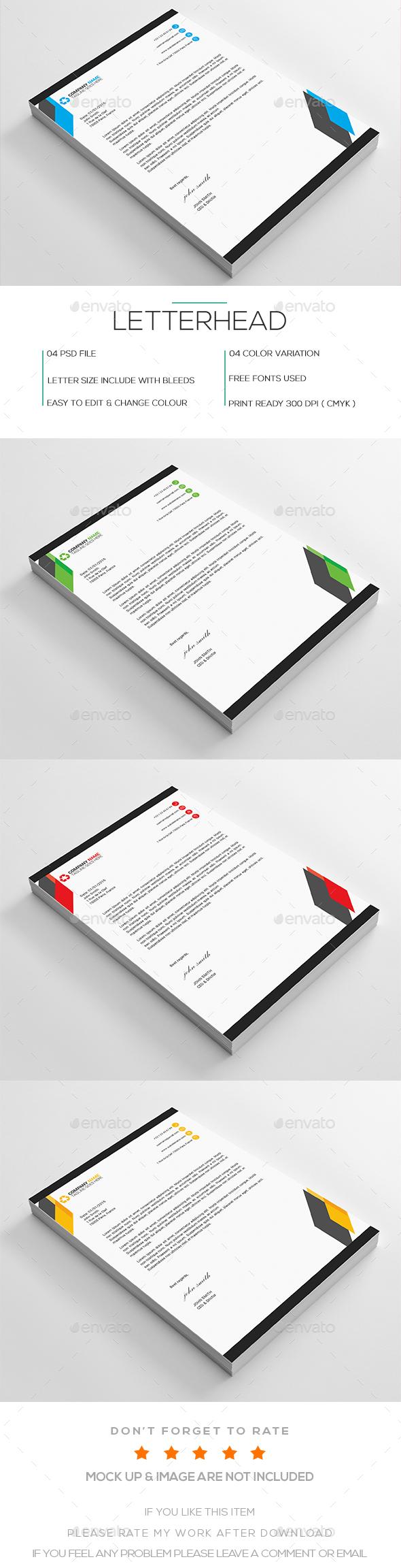Letterhead Design Template Psd  Letterhead Design Templates