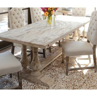 Lark Manor Nymphea Dining Table Distressed Dining Table Vintage