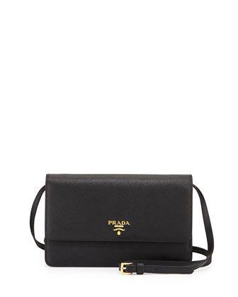 97b34e1529b2 Saffiano Mini Crossbody Bag, Black (Nero) by Prada at Neiman Marcus ...